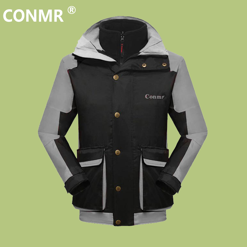 где купить  CONMR Mens Outdoor Jackets Winter Windbreaker Male Twinset Fleece Thermal Breathable Cycling Hiking Clothes Camping Jacket Wear  по лучшей цене