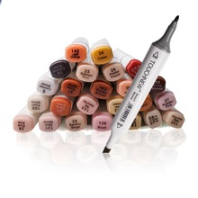 TOUCHNEW Art Marker Set  Alcohol Art Dual Tip Sketch Marker Pen Art Sketch Twin Tip 24Colors Skin Marker Pens for Manga Portrait 168 color set touchnew alcohol graphic art twin tip pen marker pen set pencil bag anti fouling glove a4 drawing book