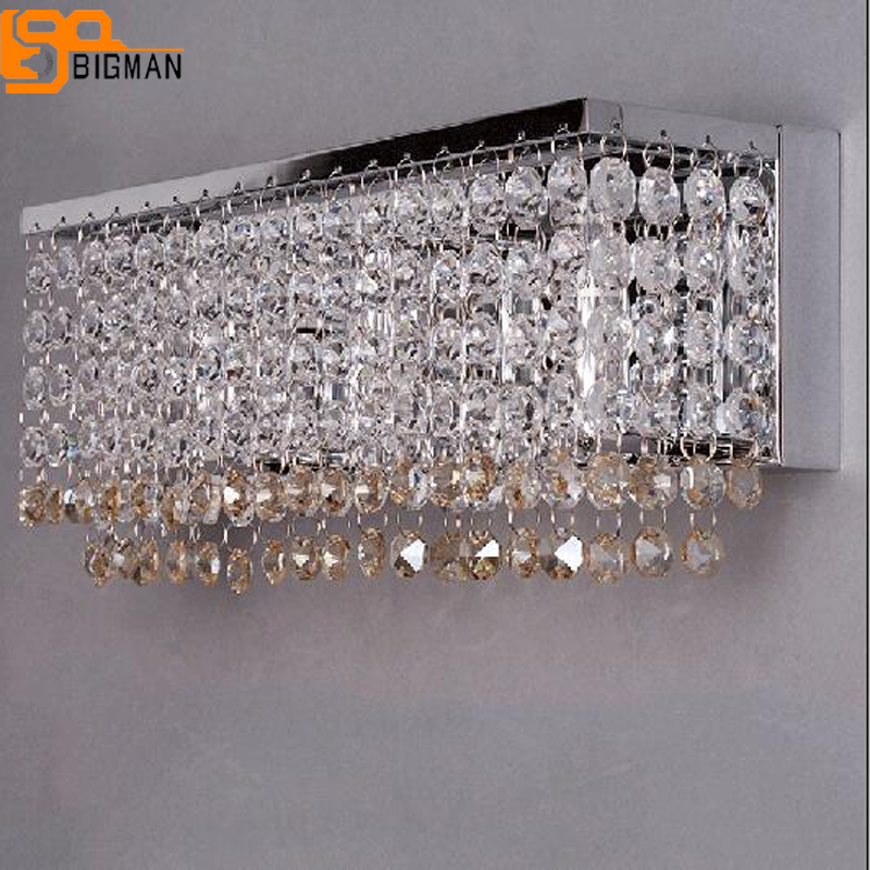 beautiful design crystal wall lamp modern LED light wall luminare length 36cm home lighting ...