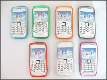 Free Shipping For Nokia E71 Case 100% Brand New Brand New TPU gel silicone case cover for Nokia E71 24pcs/lot