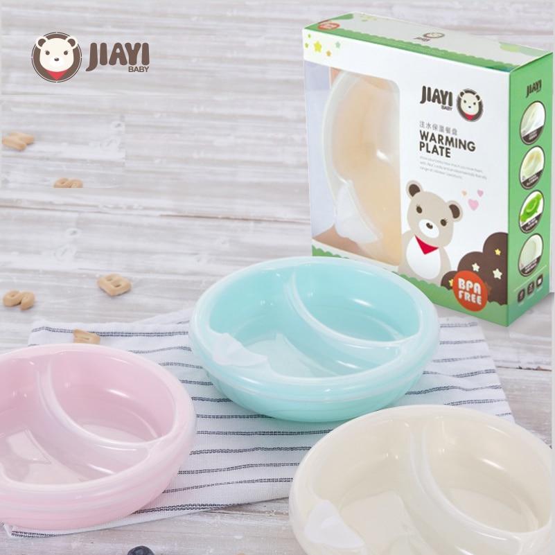 Jiayibaby לא להחליק תינוק מחממים פלייט לשפוך הוכחה היניקה קערה לשמור על מזון חם מיכל שולחן ילדים פראייר האכלה צלחת