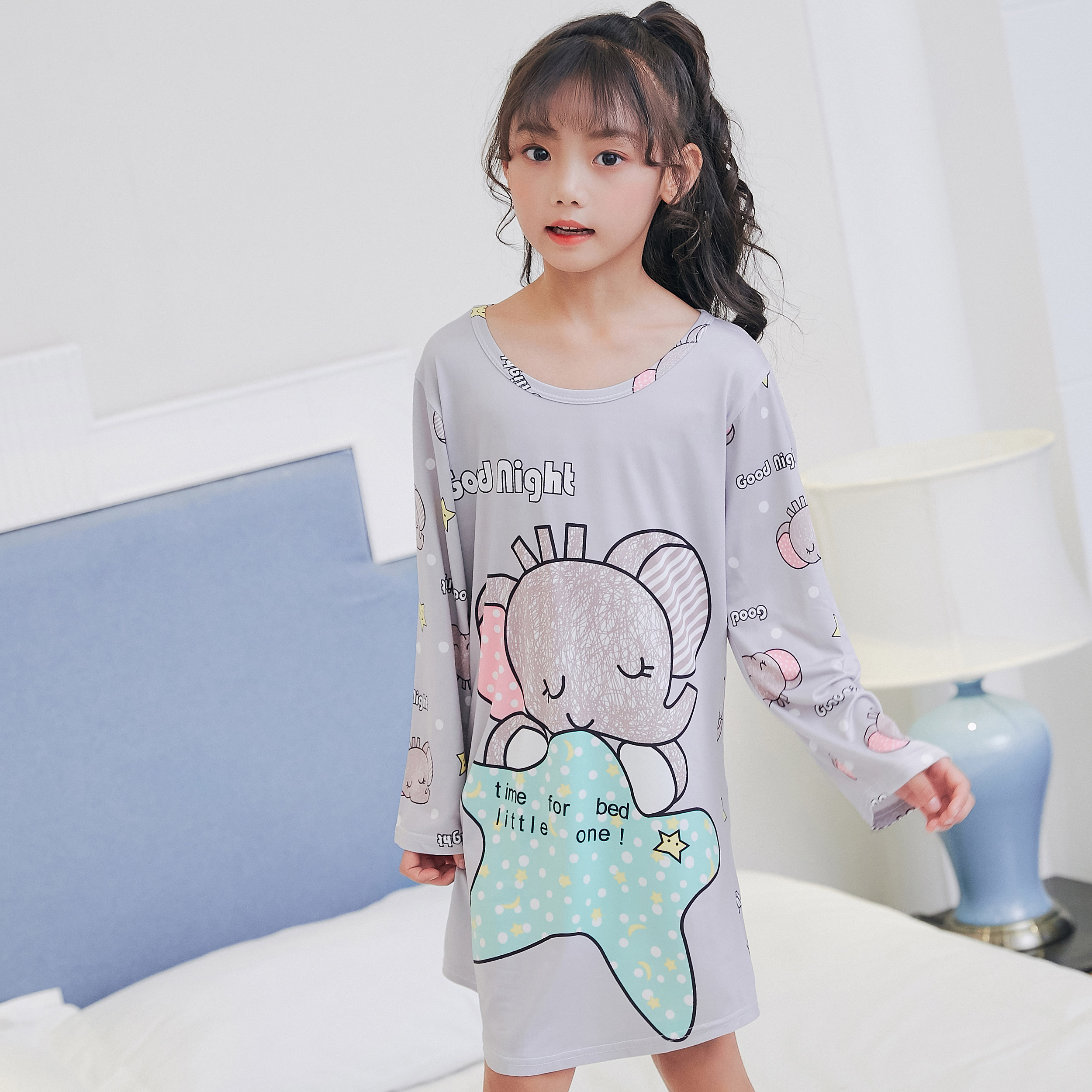 217cd30cc0 Children Clothing 2018 Autumn Dresses Girls Baby Pajamas Cotton Princess  Nightgown Kids Home Girl Sleepwear Party Kids Nightgown-in Nightgowns from  Mother ...