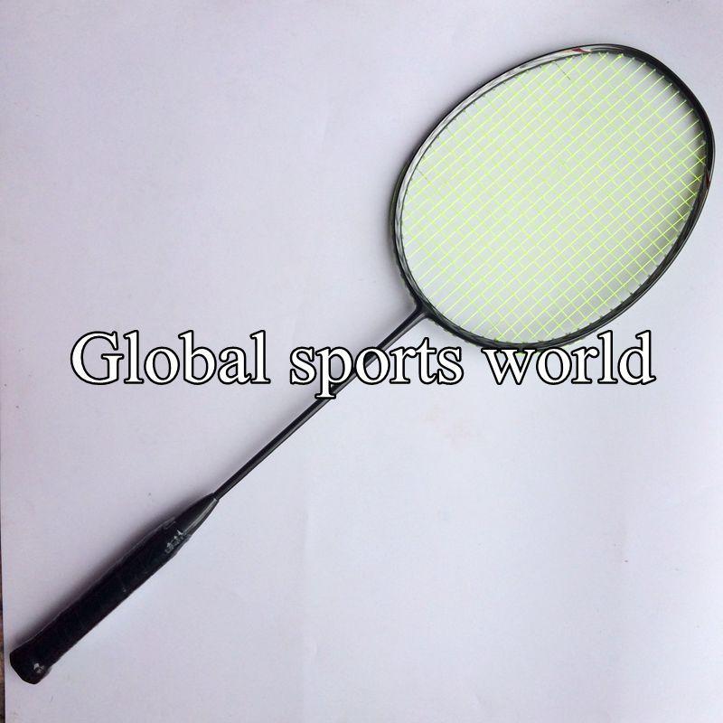 1 PC 4U 82g N80 Badminton Racket, 3D Blade Badminton Racket T Jiont (Dark Grey)