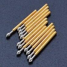 100 шт., пружинные щупы диаметром 1,3 мм с позолоченной конической головкой