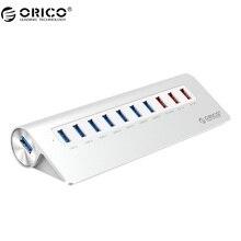 ORICO M3H73P-U3-V1 высоком Скорость Алюминий с Адаптеры питания 10 Порты и разъёмы USB3.0 хаб для телефона/pad-серебро