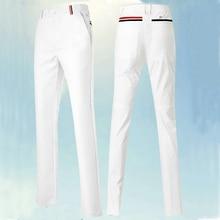 Осень-зима полосатый # гольф длинные дизайн мужские брюки для