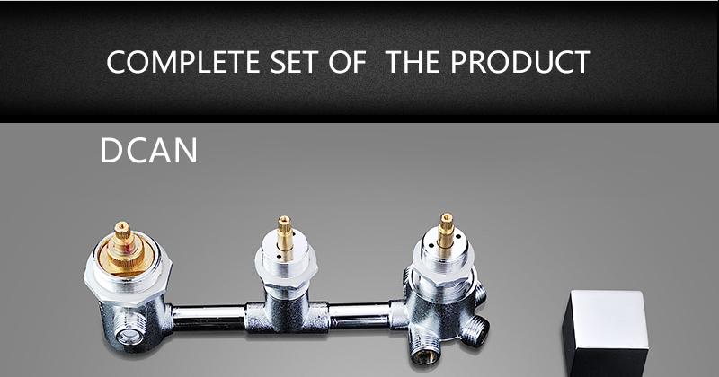 DCAN Bathroom Thermostatic Mixer Valve Brass Chrome Finish Shower Faucet Mixer Valve 3-4 Ways Faucet Bath Faucet Accessories (25)