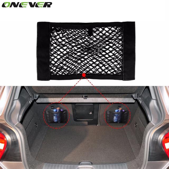Universal Car Trunk Box Storage Bag Mesh Net Bag 40cm*25CM Car Styling Luggage Holder Pocket Sticker Trunk Organizer