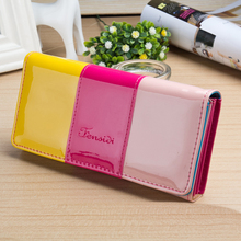 New arrival Fashion Women's clutch Long Wallet girl PU leather Portable Coin bag Purse colorful female cards holder Phone wallet