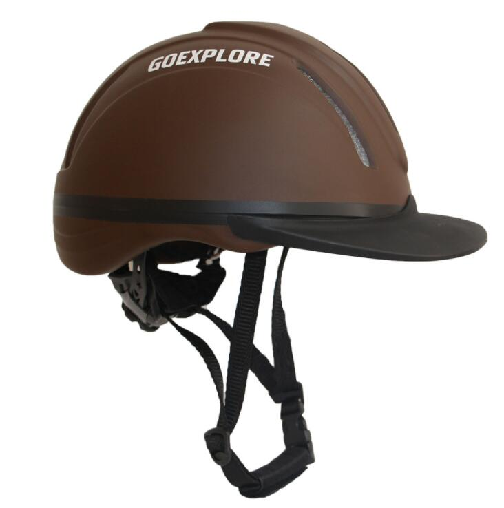 Equestrian Helmets, Horse Helmets, Horse Helmets, Ultra-Light Equestrian Equipment For Adults And Children Black Brown