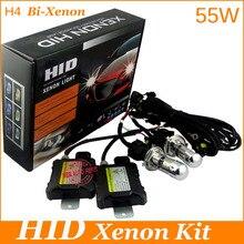 55 W 4300 k 6000 k 8000 k del xenón del bi H4 Ocultó el Kit de conversión H4high luz de cruce/H4H/L bloque twp faro lastre Para la linterna del coche