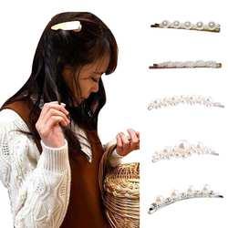 Элегантный для женщин искусственный жемчуг зажим для волос шпилька Свадебная вечеринка заколка для волос 2018