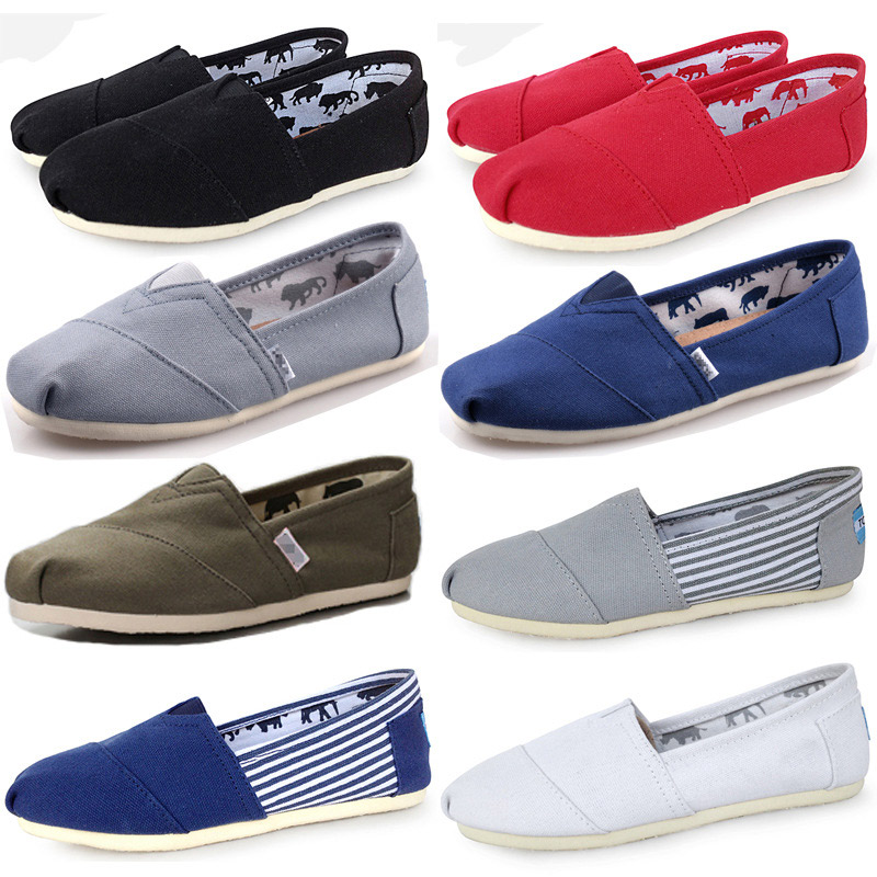 Women Flat Shoes Shallow Canvas Loafers Fabric Slip On Shoes For Women Comfortable Ballets Breathable Ladies Sewing Plus Size(China)