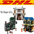 2017 LEPIN 16012 2025Pcs Movie Series Harry Potter The Diagon Alley Set Model Building Kits Blocks Bricks Compatible Toys 10217