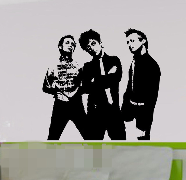 free shipping green day wall sticker american punk rock band vinyl