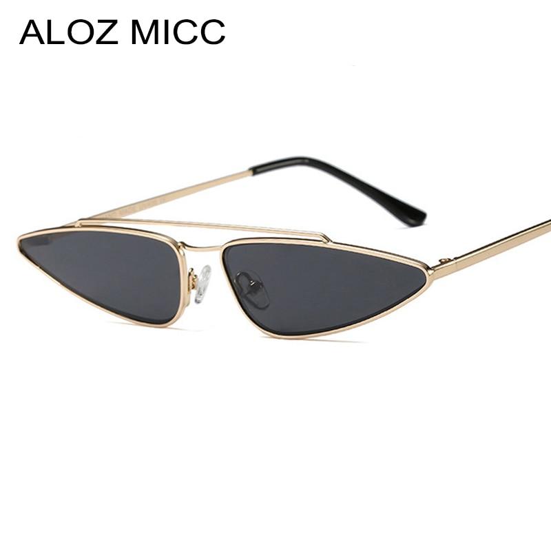Women's Glasses Capable Aloz Micc New Small Cat Eye Sunglasses Women Designer Men Retro Triangle Metal Frame Sun Glasses Female Shades Glassesuv400 Q335 Women's Sunglasses