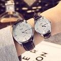 Basid relógio de quartzo relógios de negócios de moda casual couro genuíno rodada caso casal dos amantes das mulheres relógio de pulso 30 m à prova d' água