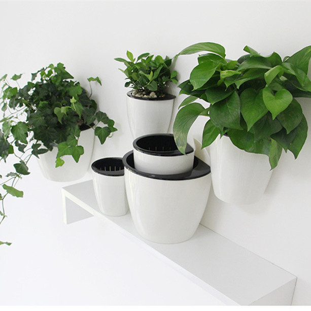 Decorative hanging flower plant pot plastic garden for Decorative hanging pots