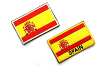 Spain Flag Patches 3D Embroidery Appliques Military Flag Badges Stickers for Clothes with Hook&Loop 8*5 CM