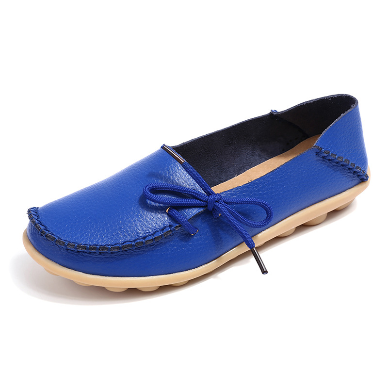 Slip-On Loafers Oxford Genuine-Leather Flats Moccasins Casual Shoes Soft New Top-Quality