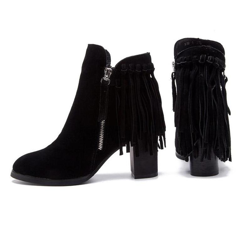 Lacent K468 Talons Femmes Gland En Cuir Plate Boucle Sapatos Zipper Dames 1 Véritable Bottes forme Hauts Chaussures Femininos F1cTKlJ