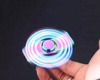 Navpeak 1 stks LED Zinklegering Spinner Fidget Elektrische Aansteker Oplaadbare USB Cool Light Up Vinger Spinner figet Volwassen Gift