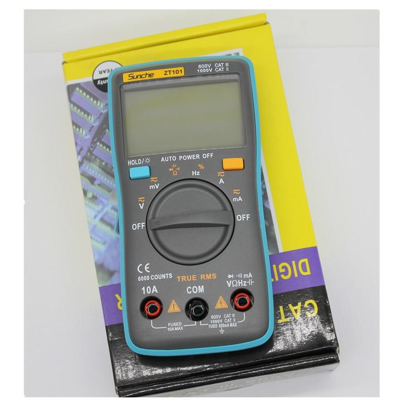 RM101/ ZT98 Digital Multimeter 6000 counts Backlight AC/DC Ammeter Voltmeter Ohm Portable Meter professional and practical an8001 digital multimeter 6000 counts backlight ac dc ammeter voltmeter ohm portable meter