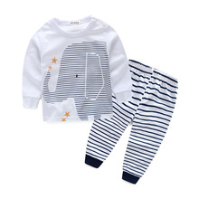 цена на Baby  Boy Long Sleeve T-shirt+Pant Kids Spring Autumn Outfits Set Suits Baby Girls Clothes