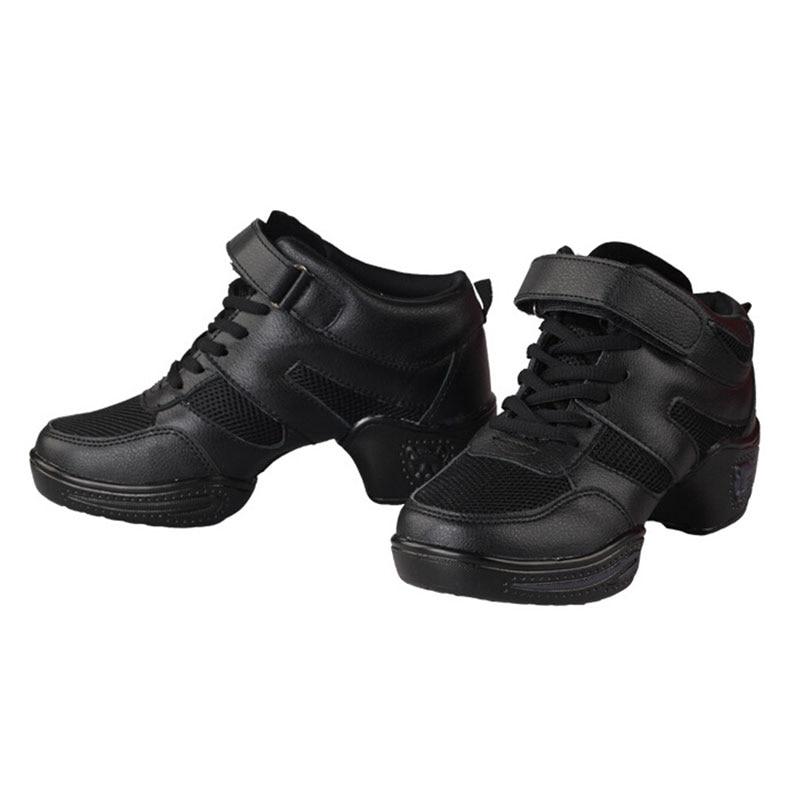 Women Ladies Modern Dance Sneakers Jazz Hip hop Dancing Shoes High Tops Fitness Sports Sneakers