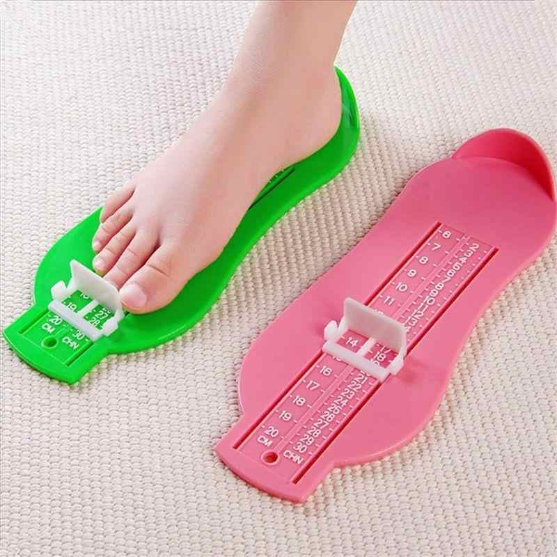 8 ألوان جديد الرضع القدم قياس قياس الأحذية حجم مسطرة قياس أداة الطفل الاطفال حذاء طفل صغير تركيبات قياس القدم قياس أدوات