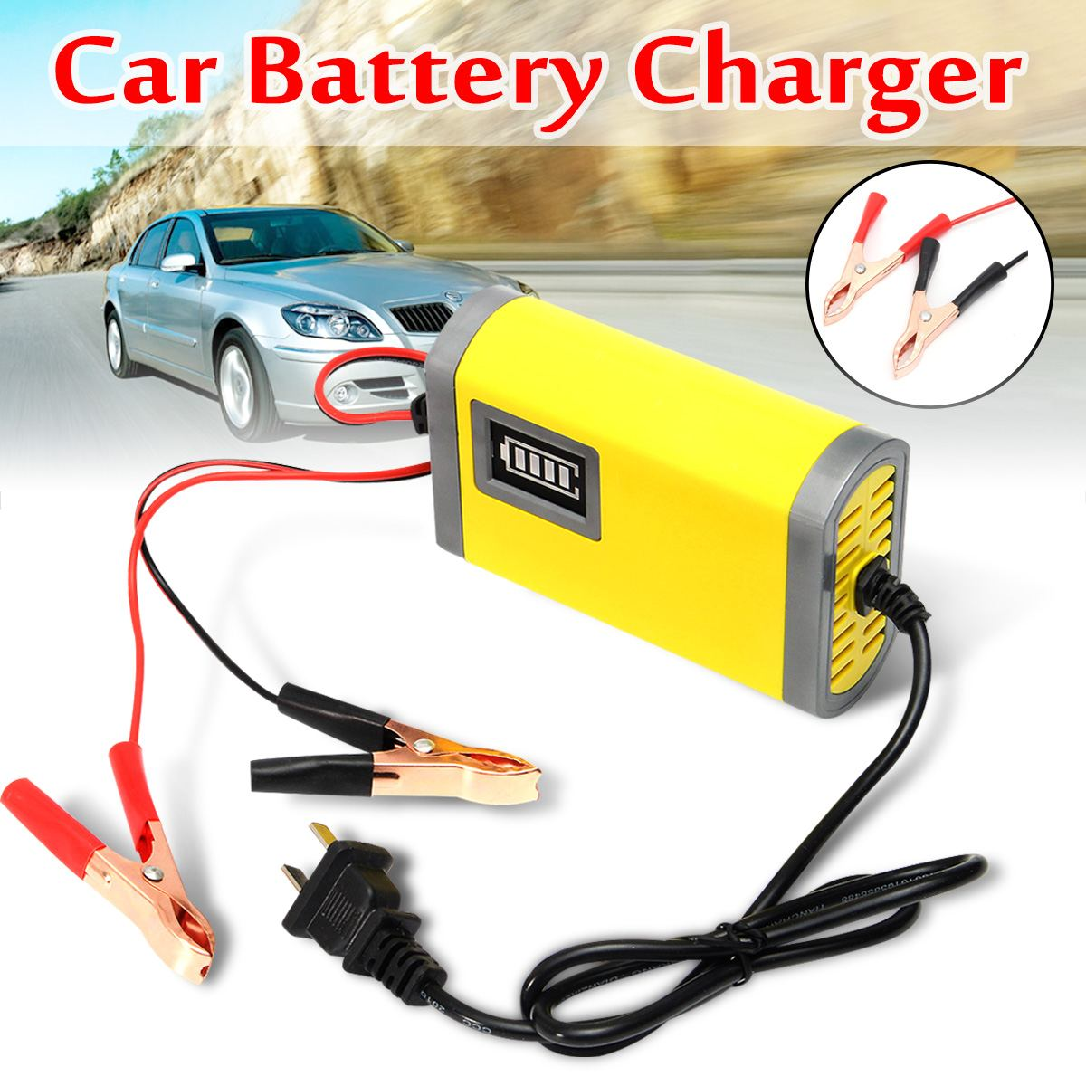 12V 2A Car Motorcycle Smart Automatic font b Battery b font Charger Maintainer Trickle for Car