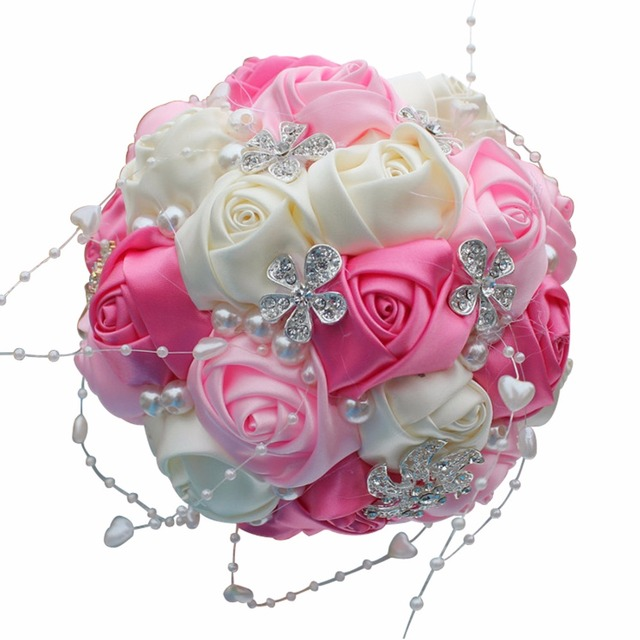 Round Ball Hand Bridal Bouquet Foam Bride Bridesmaid Hand Bridal ...