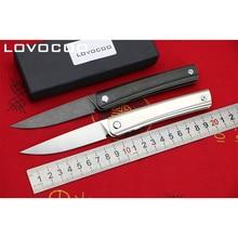 LOCOVOO LINE New arrival Flipper folding knife D2 blade Titanium handle Outdoor camping hunting Survival pocket knives EDC tools цена в Москве и Питере