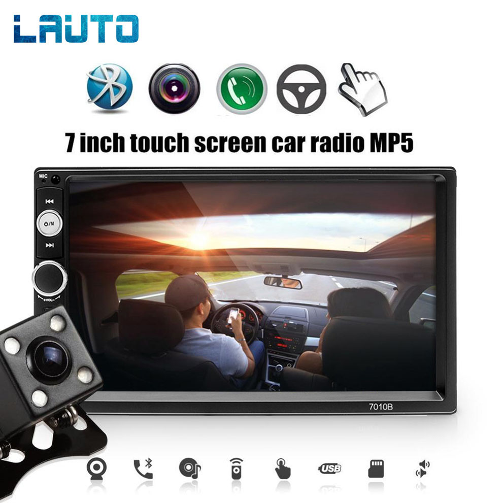 LAUTO 2 Din Car Radio 7010B Autoradio 2 din Bluetooth 7 inch Touch Screen Mp5 USB