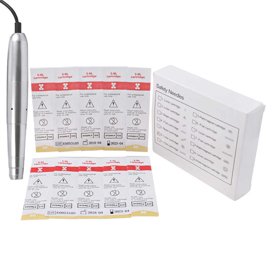 קעקוע מחסנית מחטי RL 10Pcs קעקוע מחטי איפור קבוע גבות שפתיים אייליינר עבור חשמלי מכונת עט