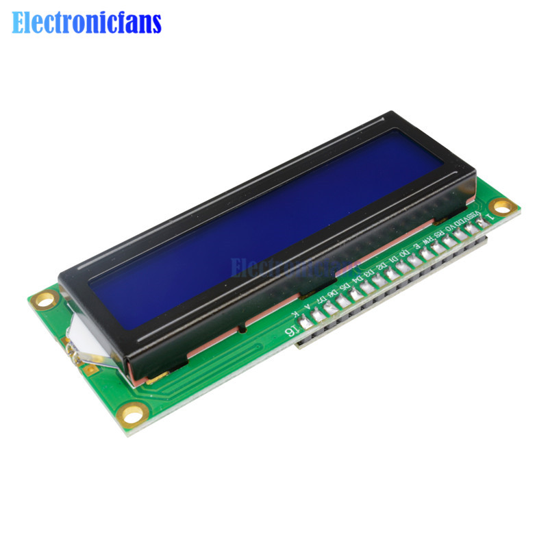 Blue Display IIC/I2C/TWI/SPI Serial Interface 1602 16X2 Character LCD Backlight Module LCD-1602 5V For Arduino new iic i2c twi spi serial interface board module port 5v lcd adapter converter module compatible for lcd1602 2004 lcd