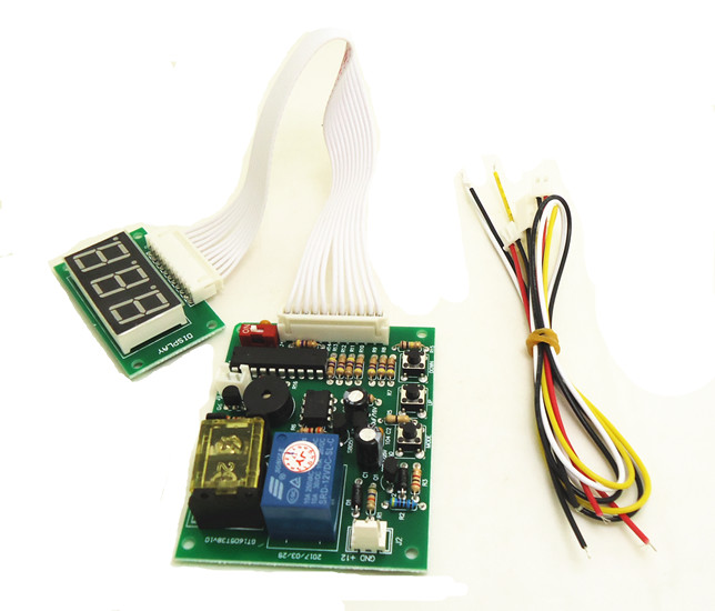 CH925 coin operated time control device for cafe kiosk, multi coin selector with timer board and reset counter