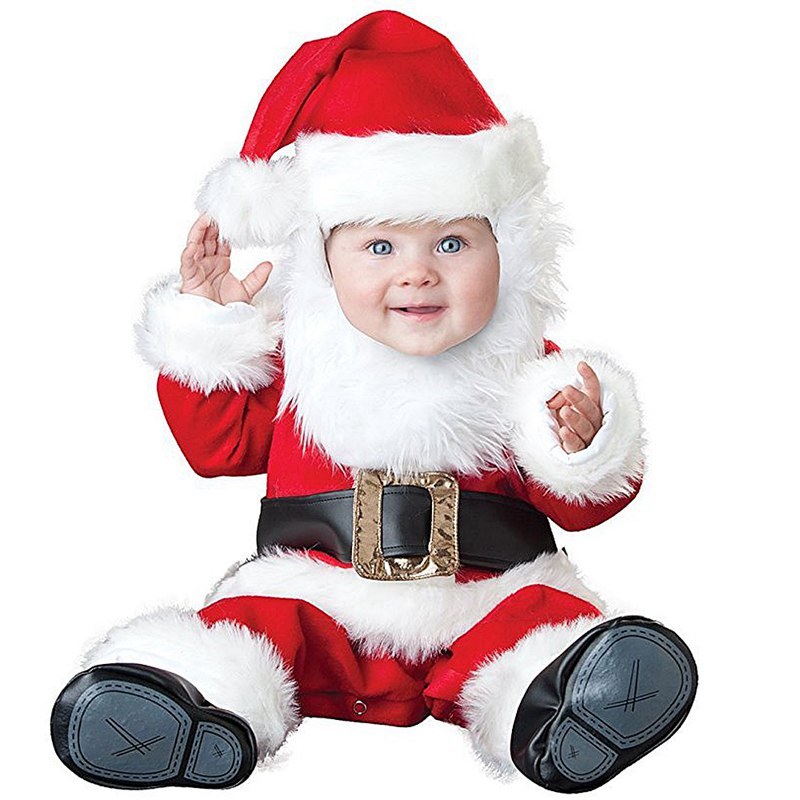 Christmas gift 2017 hot baby jumpsuit Santa Claus clothes kids overalls newborn boys girls romper children costume nyan cat baby girl boys infantil toddler red christmas santa claus romper hat outfit cotton jumpsuit costume event party clothes