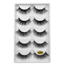 shidishangpin 5 pairs 3D mink eyelashes stright makeup natural long 1 box extension