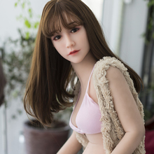140cm Japanese Full Silicone Love Doll, Sex Doll with Skeleton, Oral Adult Doll with Vagina Anal Boobs Real Pussy Sex Toys