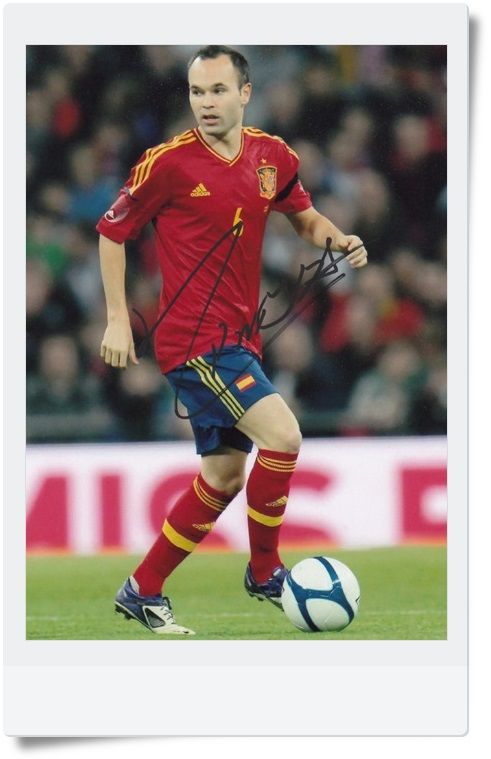 signed Andres Iniesta autographed  original photo  7 inches freeshipping 4 versions 062017 A signed tfboys jackson autographed photo 6 inches freeshipping 6 versions 082017 b