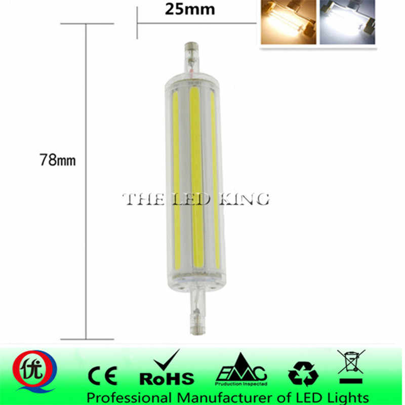 Mini ABS dimmable R7S led light 30W 78mm 50W 118mm COB RX7S lamp J118 J78 led bulb perfect replace halogen lamp AC220-240V