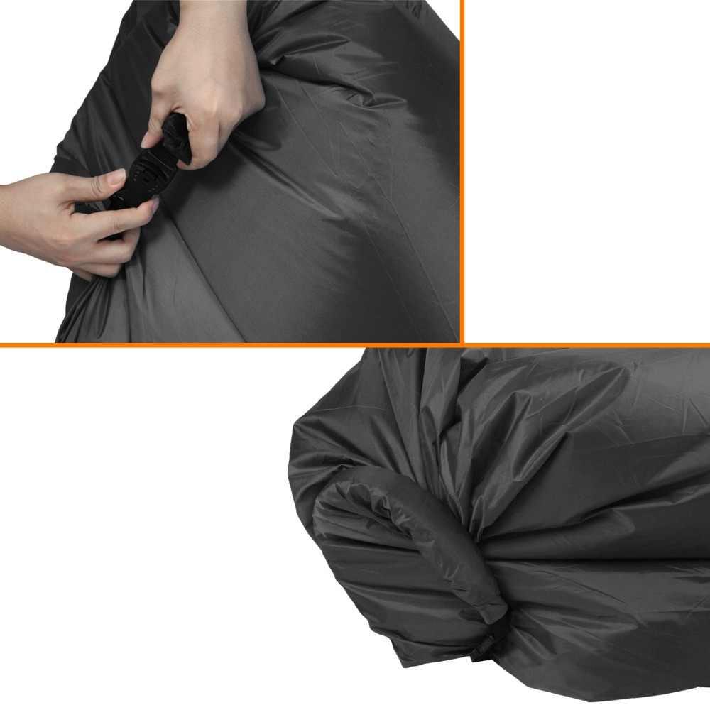 Ao ar livre Espreguiçadeira Inflável Conveniente Nylon Tecido saco de Dormir Saco de Compressão de Ar ponto de Encontro de Sonho Cadeira do Saco de Feijão Portátil