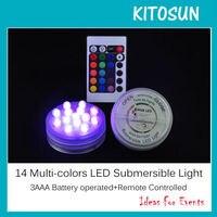 Promo KITOSUN 12 unids lote 14 Color fucsia control remoto batería operada sumergible Floralyte