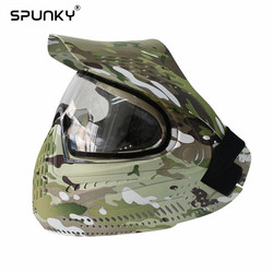 Militar do exército Paintball ou Airsoft Máscara Facial Anti Fog com Lente DYE I4 Transparente Térmico