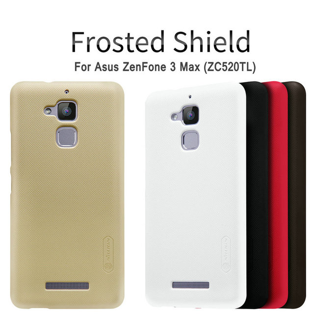 For ZC520TL Case,Nillkin Frosted Shield Case For Asus ZenFone 3 Max ZC520TL X008D Ultra Thin Slim Hard Back Cover+Free Film NS02