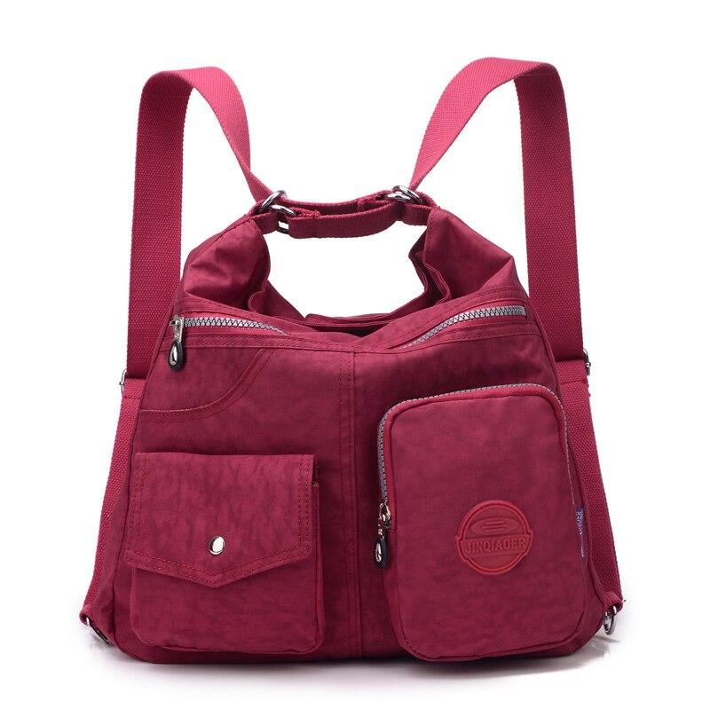 Womens Bag Casual Style Black w// Pockets Nylon Cross Body Shoulder Ladies School