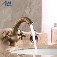 Antique Brass Faucets Bathroom Faucet Sink Basin Mixer Tap 9020A