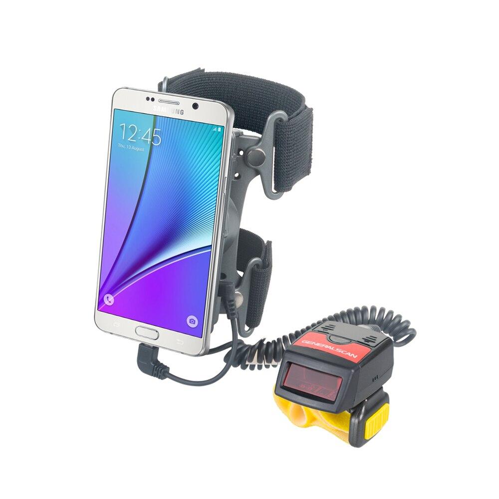 Generalscan GS WT1000-HP (01) носимых повязку с 1D кольцо Беспроводная Bluetooth сканер штрихкодов для склад/логистических