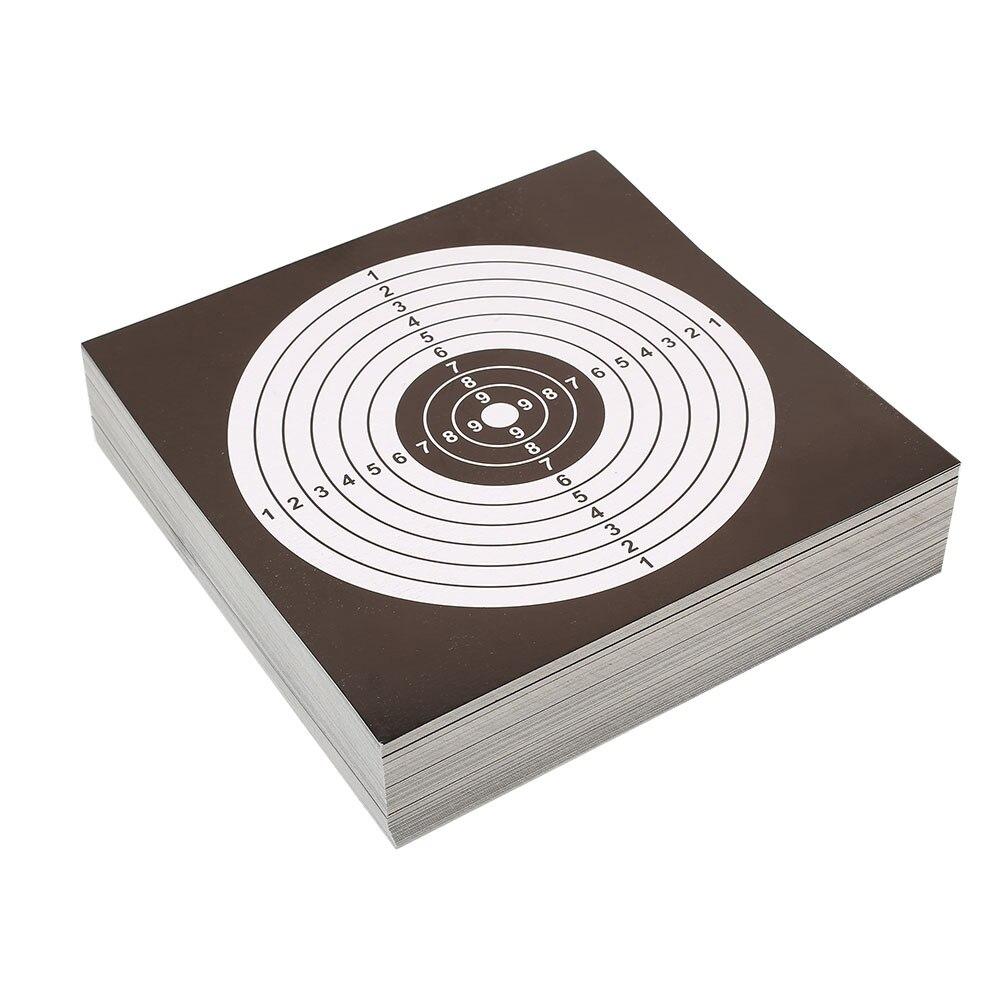 100 шт 14 см мишени для стрельбы бумажная наклейка черный белый Высокое качество Пневматическая винтовка пистолет мишени для стрельбы Пейнтбол Аксессуар - Цвет: black